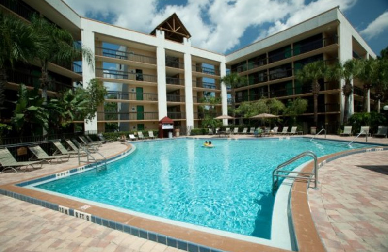 Outdoor pool at Clarion Inn Lake Buena Vista.