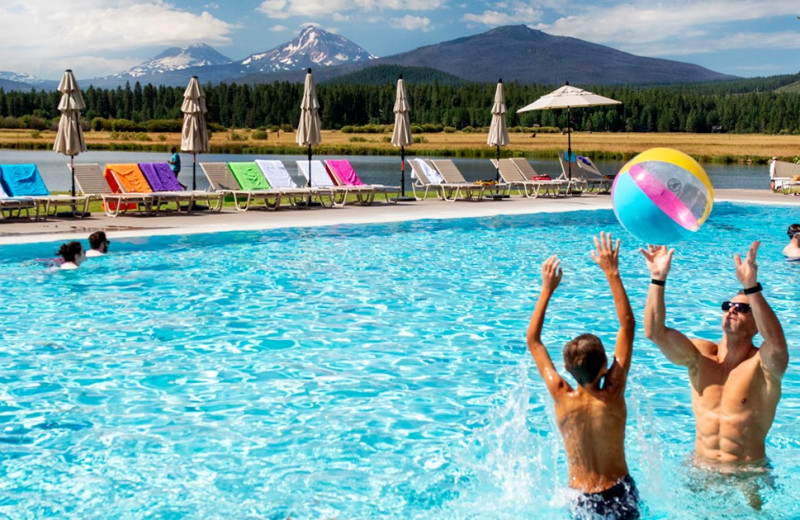 Outdoor pool at Black Butte Ranch.
