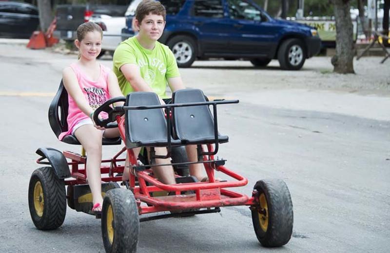 Carts at Yogi Bear's Jellystone Park Hill Country.