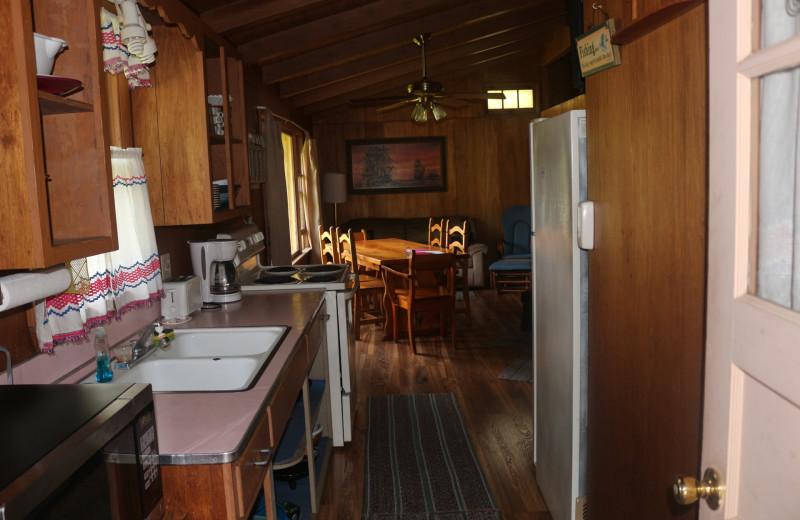 Cabin kitchen at Four Seasons Resort.