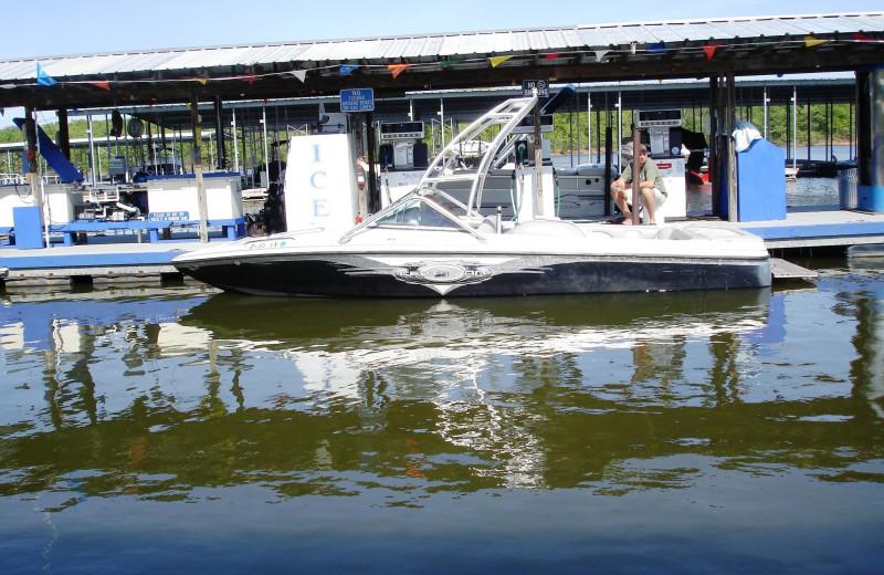 Boating at Big Bear Resort.