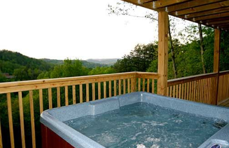 Hot Tub With View at Baskins Creek Cabin Rentals