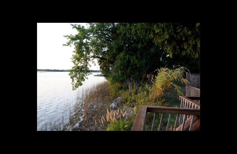 Lake view at Evergreen Resort.