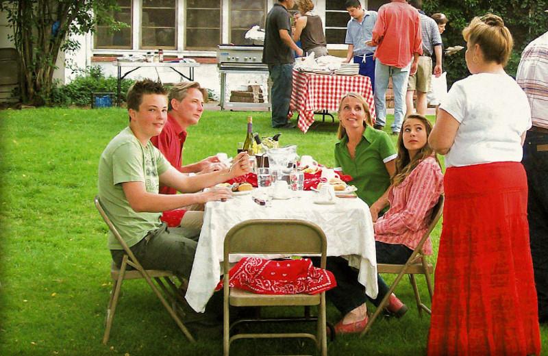 Dining at Rankin Ranch.