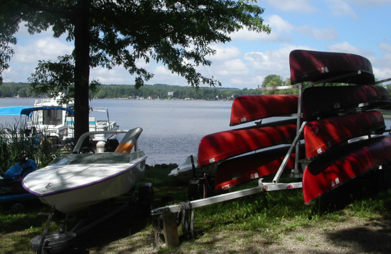 Boats at Edinboro Lake Resort.