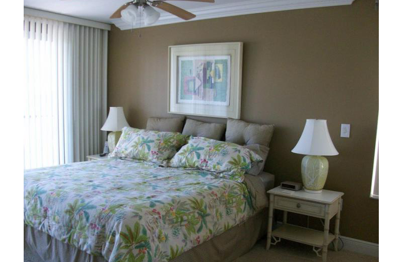 Rental bedroom at Vanderbilt Vacations.
