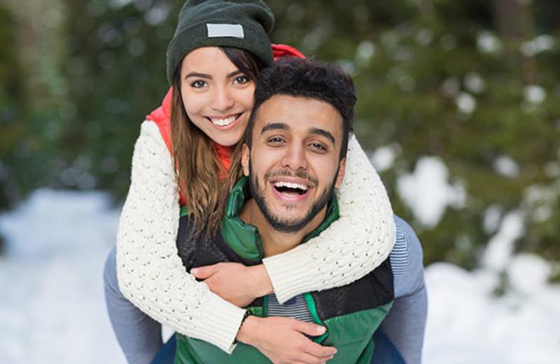 Couple at Elmhirst's Resort.
