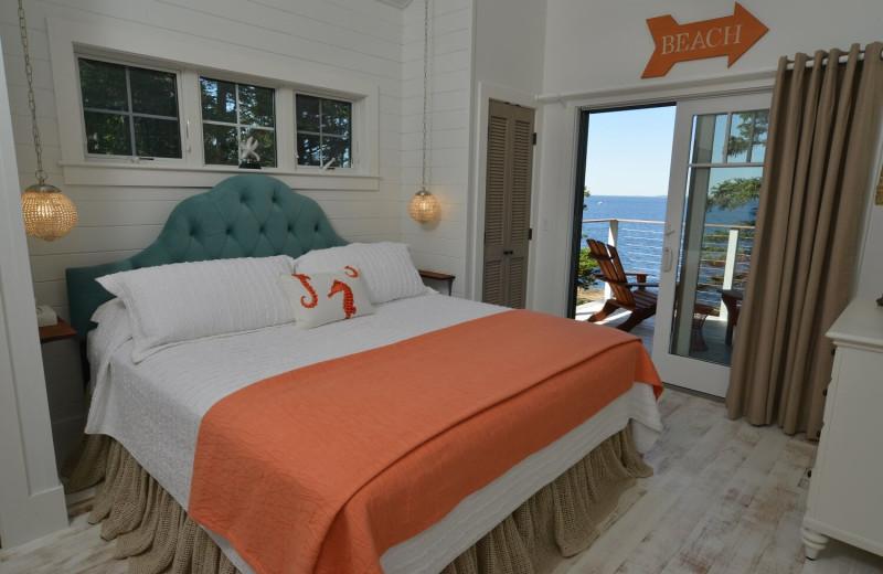 Cabin bedroom at Newagen Seaside Inn.