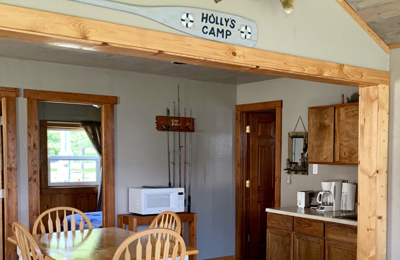 Cottage kitchen at Holly's Resort.
