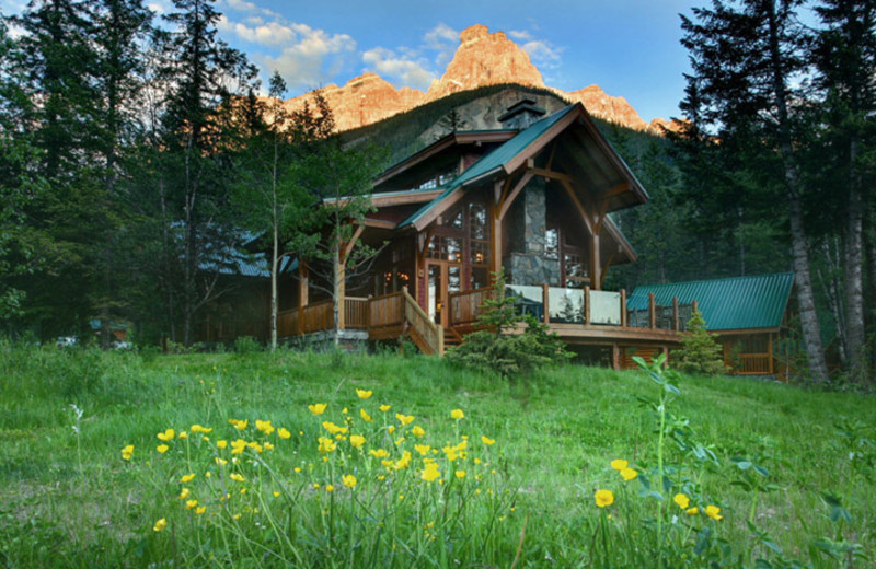 Exterior view of Cathedral Mountain Lodge & Chalets.