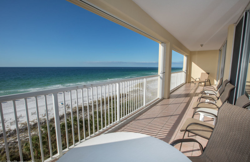 Rental balcony at Holiday Isle Properties, Inc.