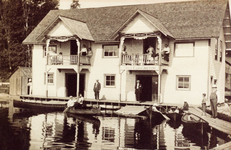 Historic photo of Port Cunnington Lodge & Resort.