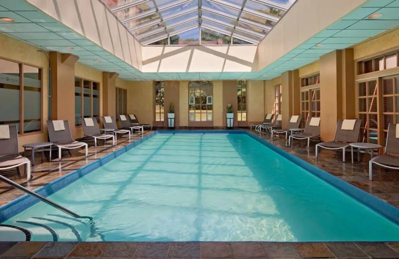 Indoor pool at Hyatt Regency Greenwich.