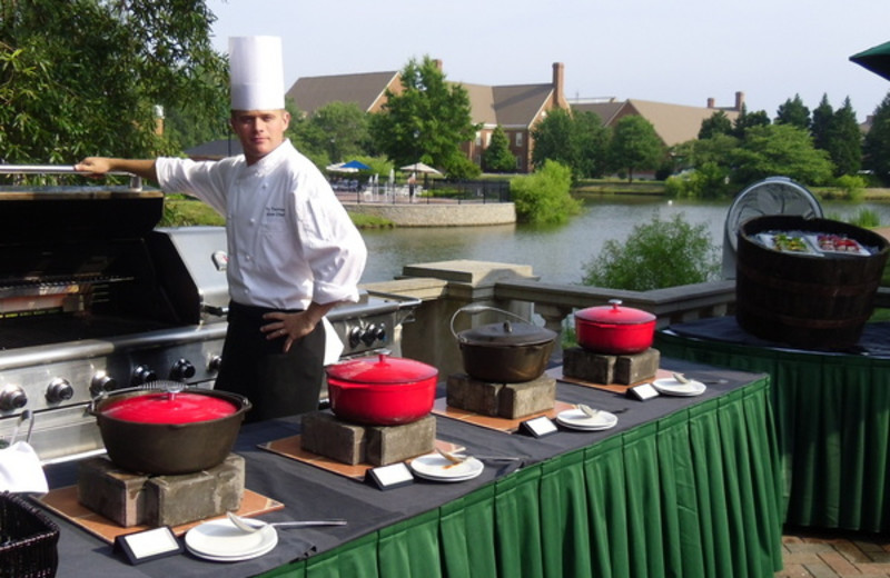 Outdoor Barbeque at The Founders Inn