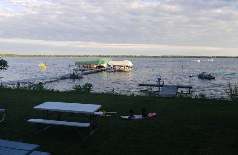 Lake view at Fraser's Arbor Resort.