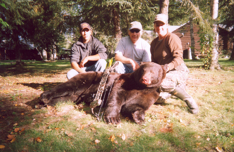 Bear hunting at Sandy Beach Lodge.