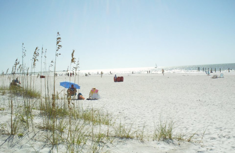 The beach at Gulf Winds Resort Condominiums.