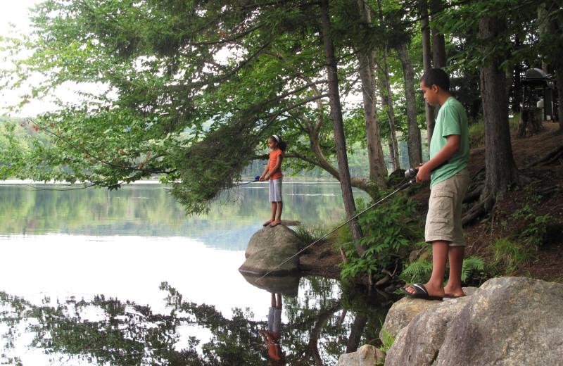 Fishing at Old Forge Camping Resort.