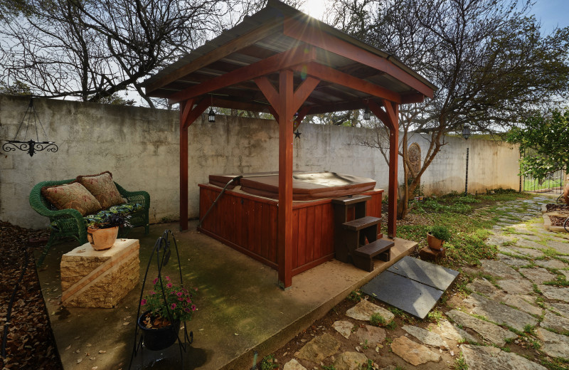 Hot tub at Smythwick Castle.