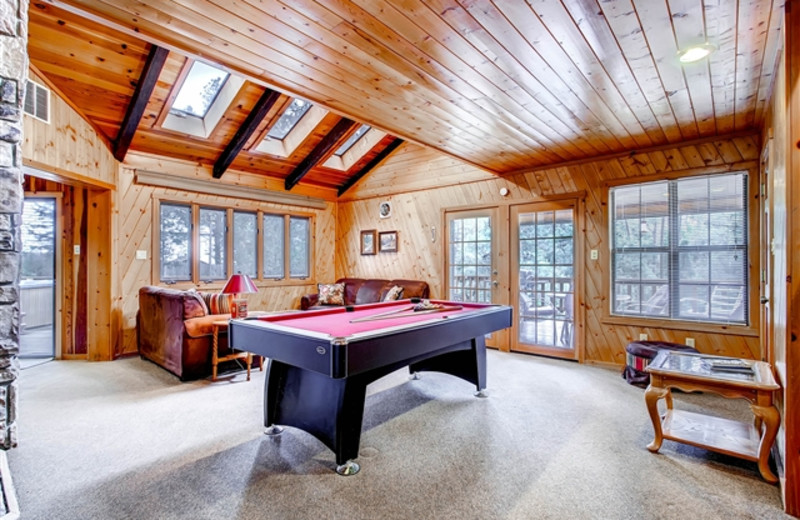Bear Country Cabin living room at Hummingbird Cabins.