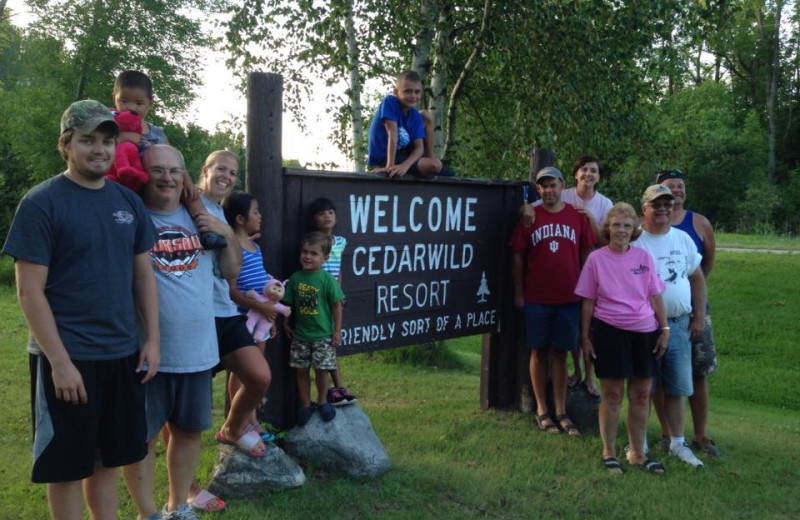 Welcome to Cedarwild Resort.