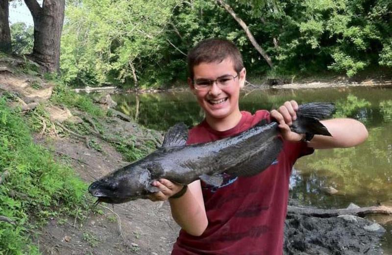 Fishing at Yogi Bear's Jellystone Park Gardiner.