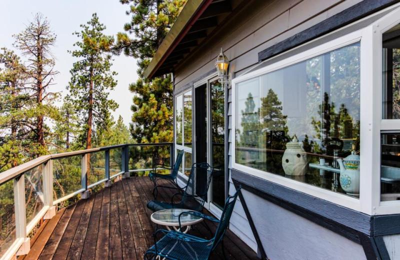 Vacation rental deck at Vacasa Rentals Lake Tahoe.