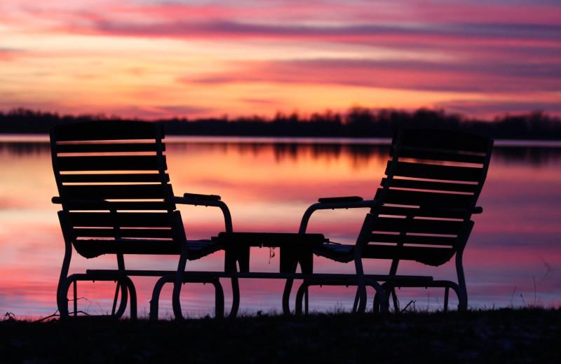 Lake sunset near Deer Lake Resort.