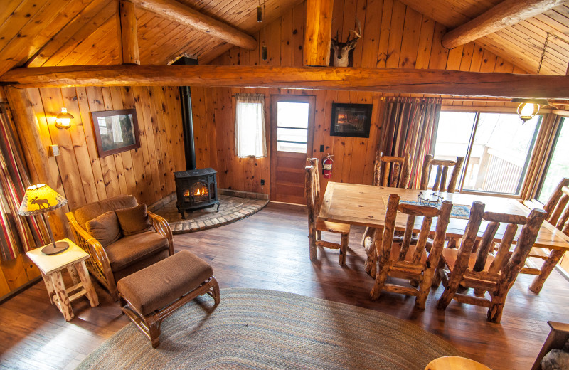 Interior view of Clearwater Historic Lodge & Canoe Outfitters.