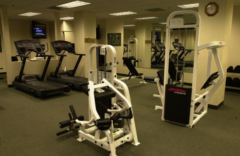 Fitness room at Grand Summit Resort Hotel.