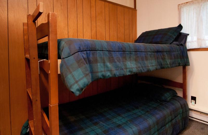 Cottage bedroom at Blue Vista Resort.