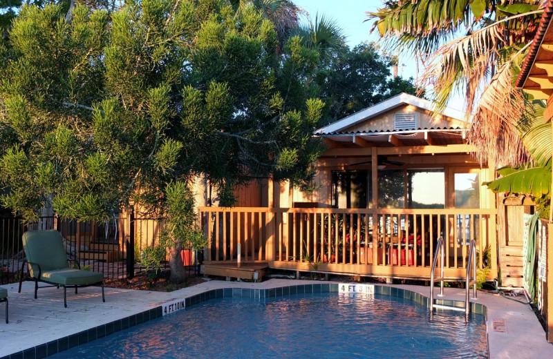 Cottage exterior at Turtle Beach Resort.