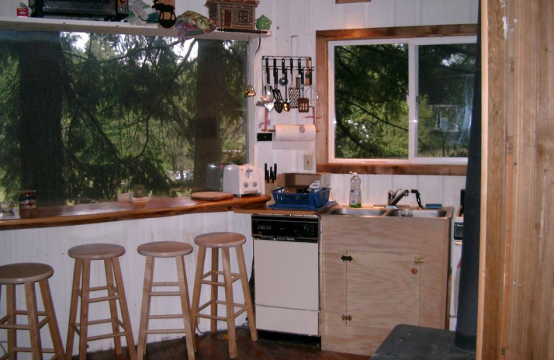 Guest kitchen at Lothlorien Woods Treehouse.
