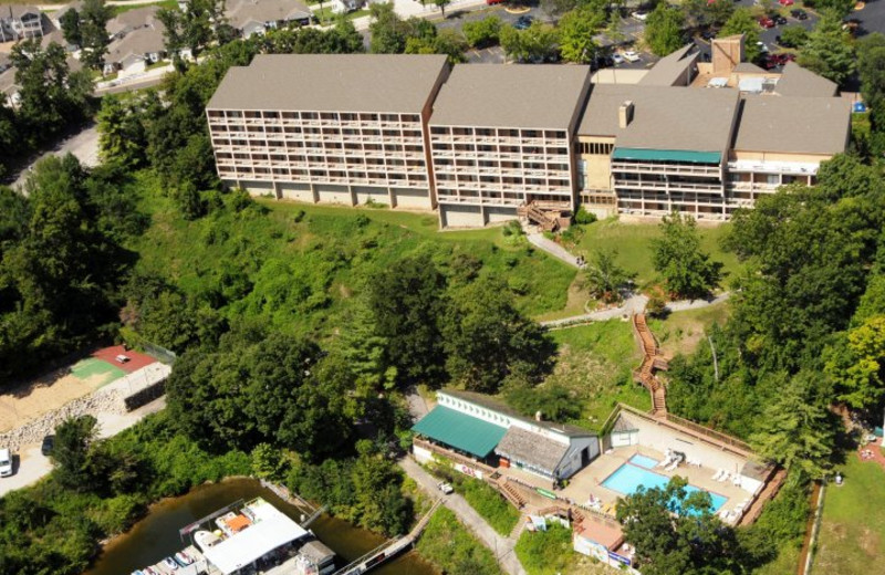 Aerial view of Inn at Grand Glaize.