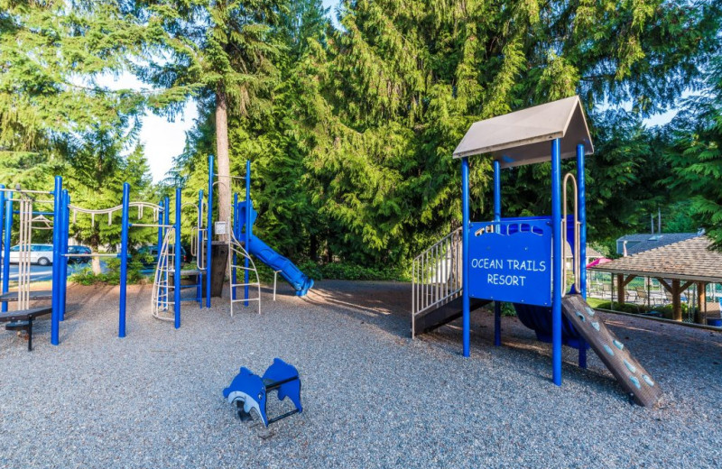 Kids playground at Ocean Trails Resort.