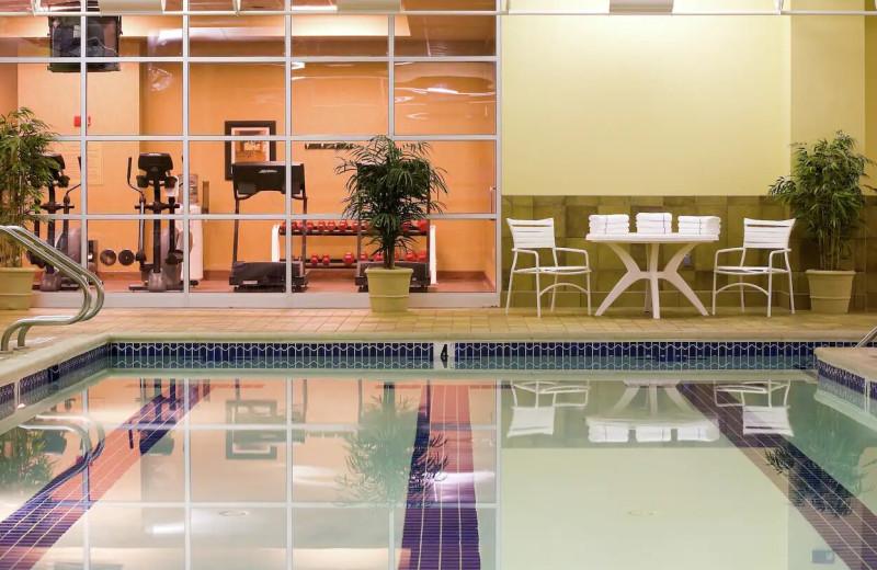 Indoor pool at Hilton Scranton