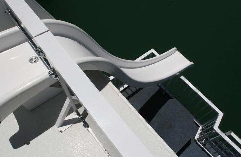 The 70' Titanium houseboat slide at Pleasure Cove.