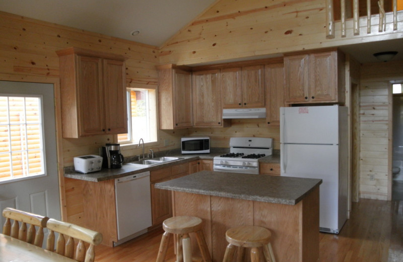 Cabin kitchen at Kokomo Resort.