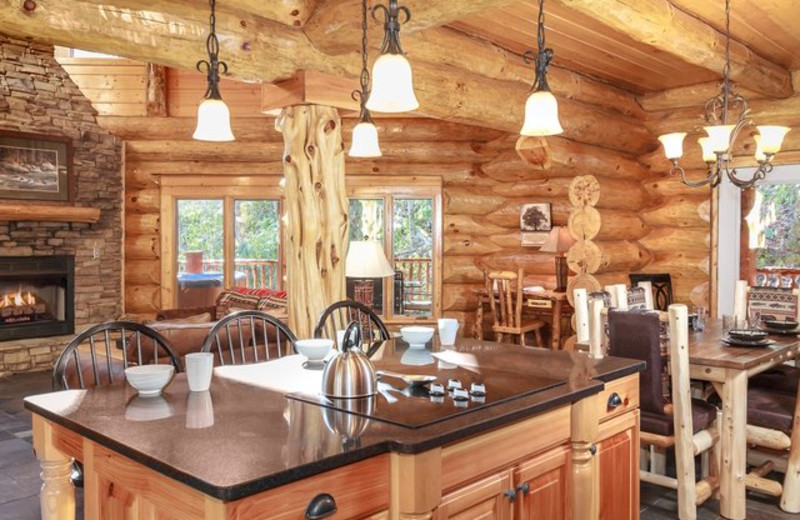 Rental kitchen at Stony Brook Cabins, LLC.