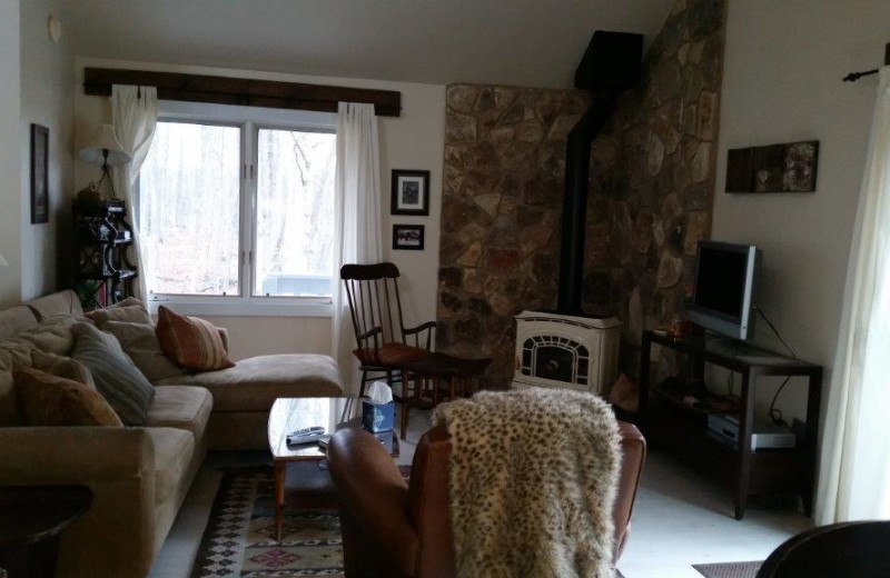 Rental living room at Door County Vacancies.