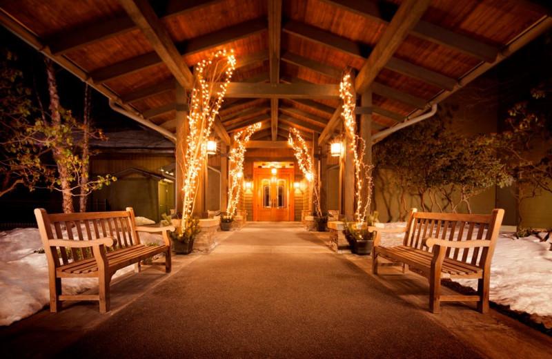 Entrance at The Lodge at Woodloch.