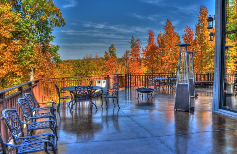 Patio at Deer Creek Lodge.