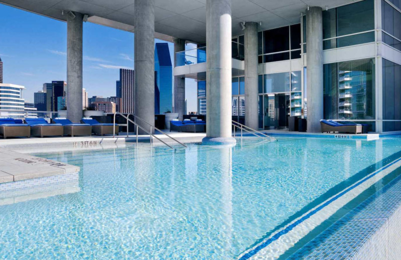 Outdoor pool at W Dallas - Victory.