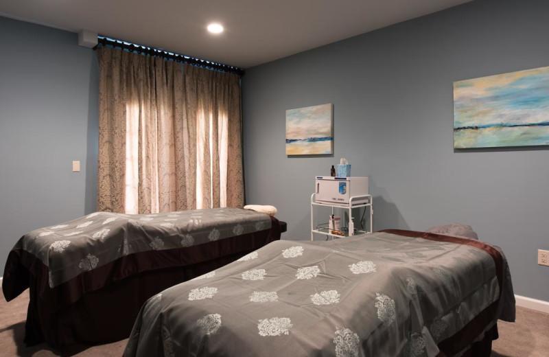 Massage tables at Valhalla Resort Hotel.