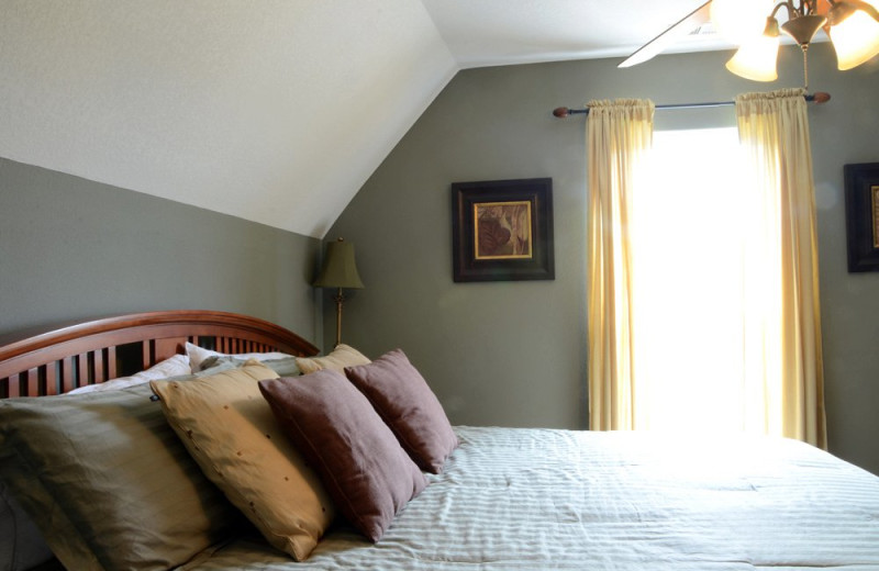 Rental bedroom at Vacation Home in Branson.
