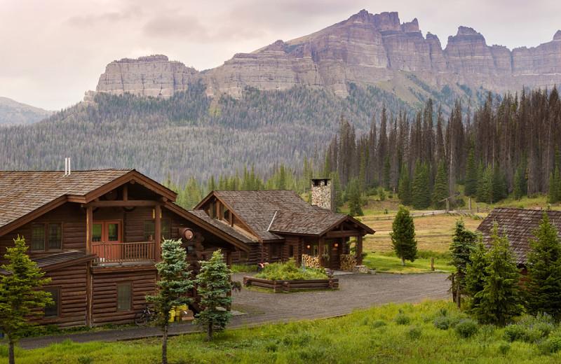 Exterior view of Brooks Lake Lodge.