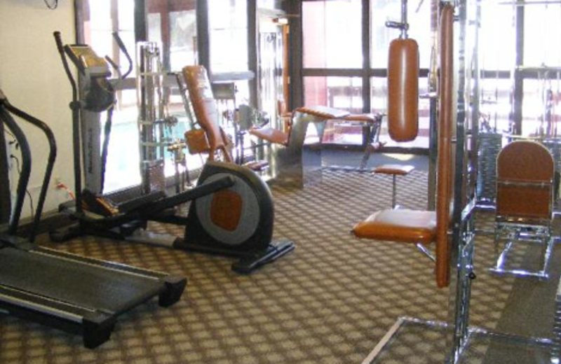 Fitness room at Copper Chase Condominiums.