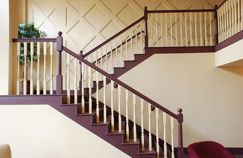 Stair at The Golden Eagle Lodge.
