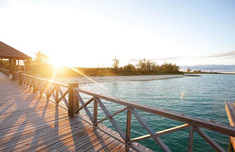 Patio at Kamalame Cay.