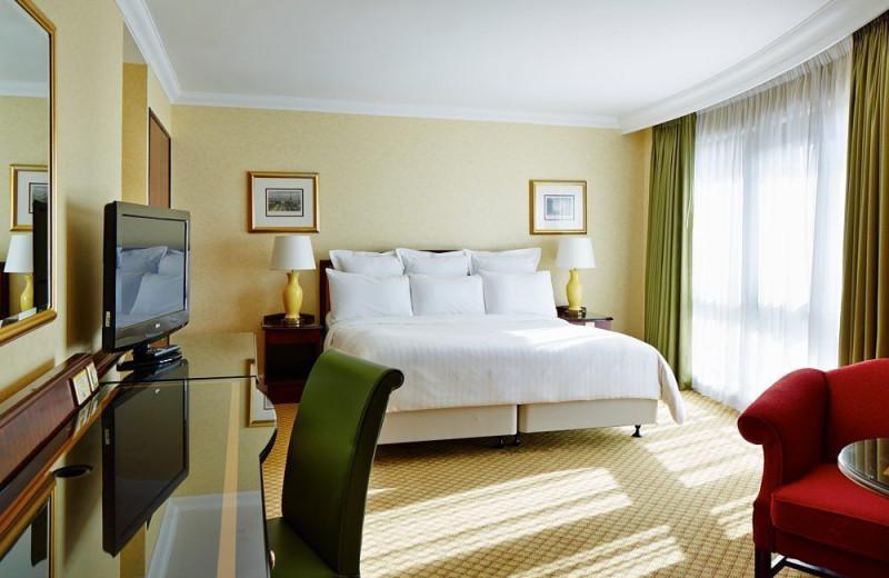 Guest room at Liverpool Marriott.